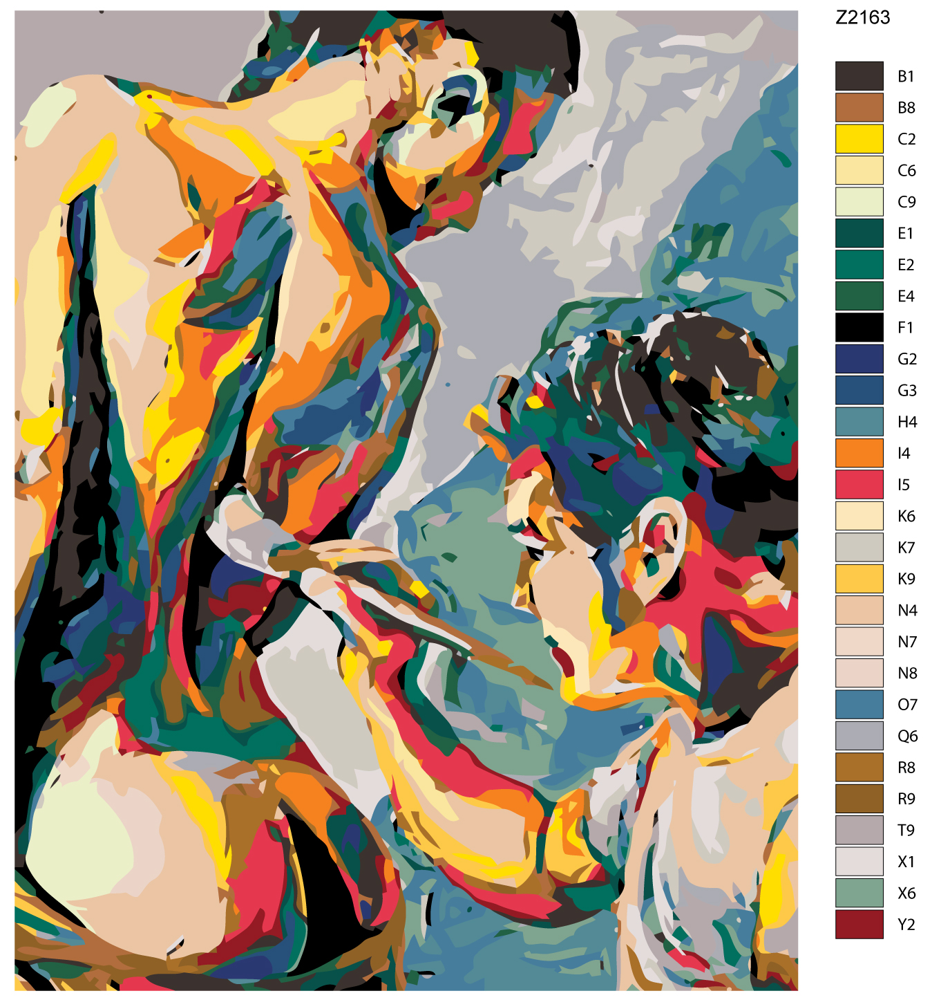 Nude paint by number